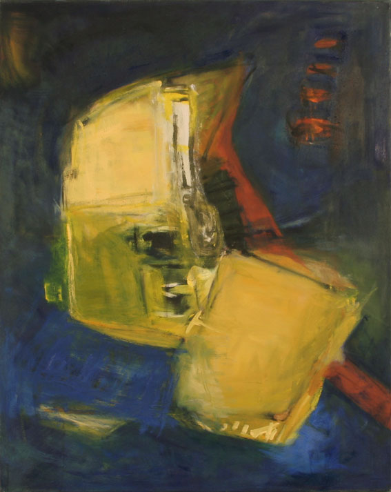 gelber Riese 80x100, Öl, 980 €