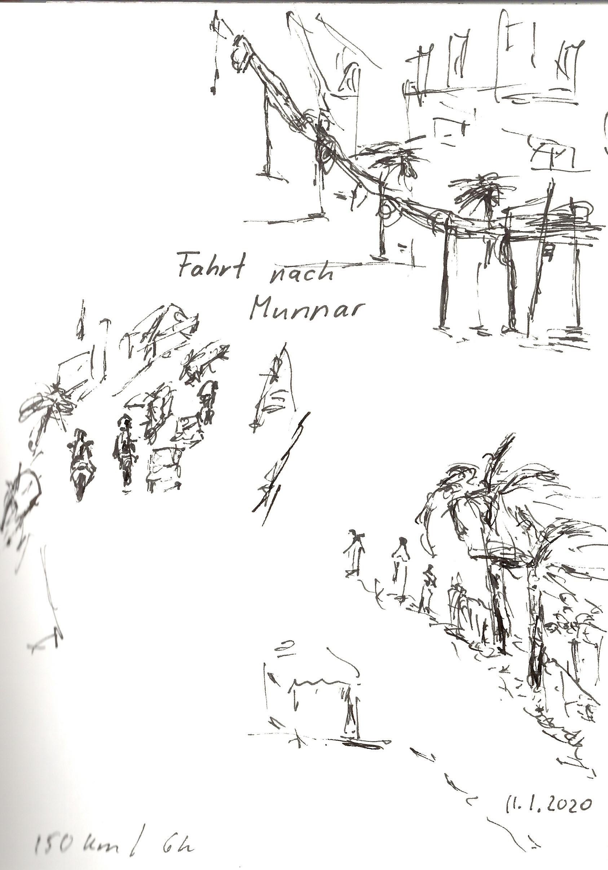 Indien, 2020 Fahrt nach Munnar