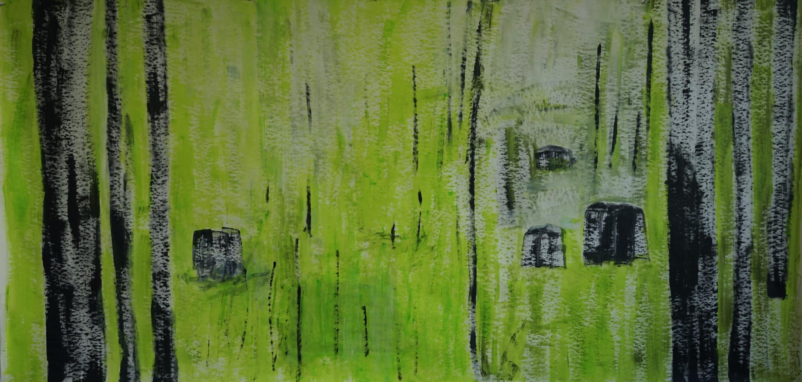 Serie IV, 3m x 1,50m, Acryl auf Papier