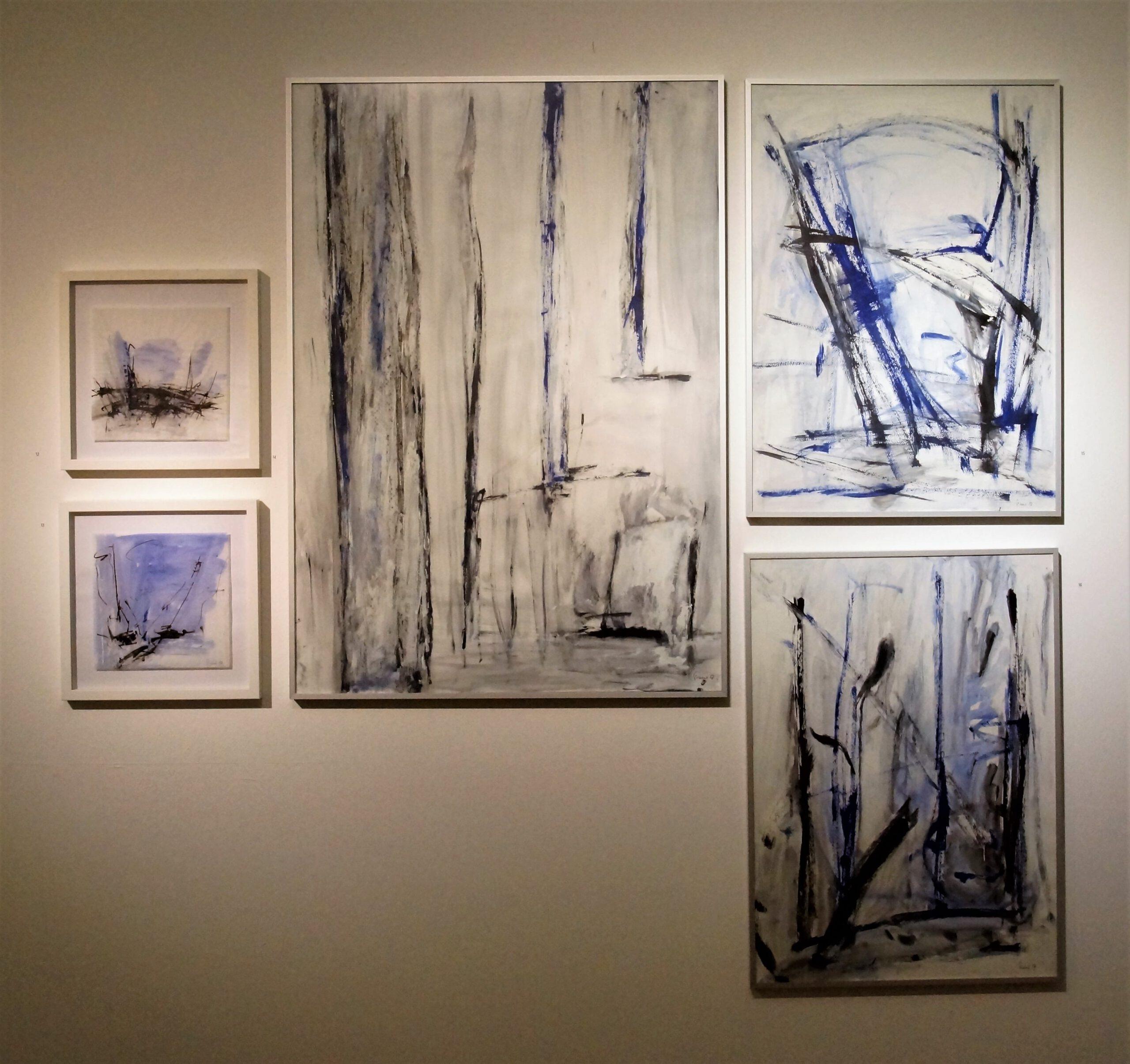 5 blaue Arbeiten